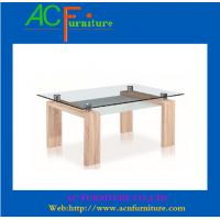 Buy cheap Wood leg glass dining table- 9006 product