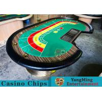Buy cheap 8 Person Casino Luxury Poker Table With Thick Black Camphor Wood Fire Panel product