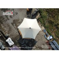 Quality Customized Steel Frame 5x5m PVC White Tent For Outside Glamping Hotel for sale