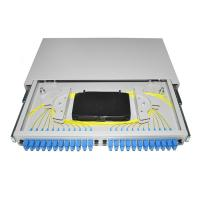 Buy cheap Pigtail Fiber Optic Patch Panel 19'' Rack Mounted OTB ODB 12 24 Port SC Connector product