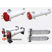 Buy cheap 18.6 KW Titanium Seawater Heat Exchanger , Shell And Tube Water Cooled Condenser  product