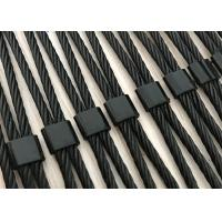 Buy cheap Stainless Steel Black Oxide Wire Rope Mesh For Decoration / Safety / Staircase product