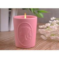 Buy cheap Character Candle Cup Holders Ceramic Candle Containers With Candle Light product