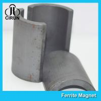 Buy cheap Arc Segments Permanent Ferrite Magnets For Industrial Motors High Durability product