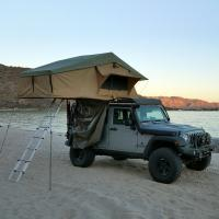 Buy cheap PU Coated 4x4 Off Road Roof Top Tent With 2M Extendable Aluminum Ladder from wholesalers