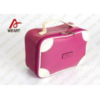 Buy cheap Matte Lamination Leather Pink Customized Paper Box With Handle OEM /ODM Avaliable product