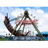 Outdoor Thrilling Swinging Pirate Ship Ride , FRP Material Pirate Ship Attraction for sale