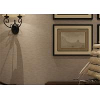 Quality Embossed Modern Removable Wallpaper Solid Color Wallpaper With Line Printing for sale