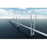 Buy cheap Great Stability Steel Suspension Bridges railway traffic for Longest Spans product