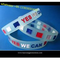 Buy cheap Custom embossed/imprinted/printed logo Silicone Wristband,silicone bracelet with stone product