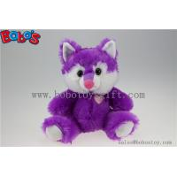 Quality Cuddly Sitting Purple Plush Fox Animal as Children Toy for Festival for sale