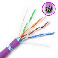 Buy cheap FTP Category Cat5e Network Cable HDPE Insulation With Purple Color Jacket product