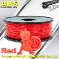 Buy cheap Multi Color 1.75mm / 3mm ABS 3D Printer Filament Red With Good Elasticity product