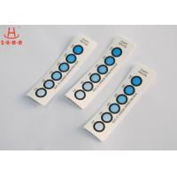 Buy cheap DMF Free Moisture Indicator Paper Six Dots , Humidity Card Indicator Blue To Pink product