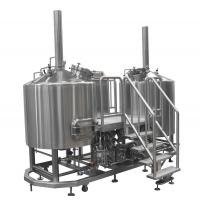 Steam Heated Micro Brewing Equipment , 10BBL Or Customized Brewhouse
