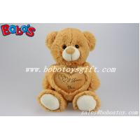 Buy cheap Childrens Toys Gift Brown I Love You Plush Bear With Heart Pillow product