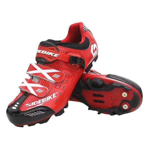 Quality Custom Waterproof Cycling Footwear , Waterproof Flat MTB Shoes Red Color for sale