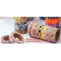 Buy cheap Colorful decorative masking washi paper tape custom printed DIY washi tape with from wholesalers