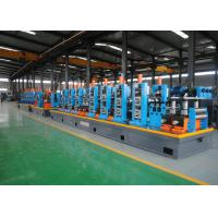 Quality Friction Saw Cutting ERW Pipe Mill / Round Carbon Steel Pipe Making Machine for sale