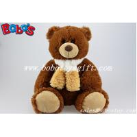 Buy cheap Wholesale Chocolate Teddy Bears With Scarf From China Factory Supplier product