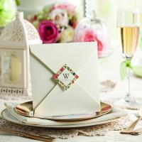 Buy cheap White Flower Special Wedding Invitations 2014 Elegant Invitation Card Printable as Wedding Decorations product
