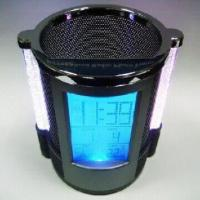Buy cheap Color Lights Calendar Pen Holder with Alarm Clock, Music Alarm and Snooze Mode from wholesalers