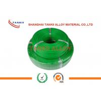 0.2mm Extension Thermocouple Cable  Solid Conductor With PTFE Insulation Green Color