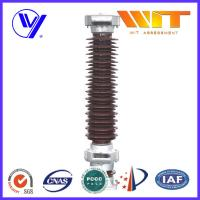 Buy cheap 102KV 10KA Porcelain Lightning Arrester in Substation MOA Type Brown Color product