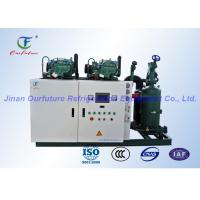 Energy saving Pharacy Cold Room Screw Compressor Unit With PLC safety auto control