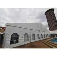 China White 60m Elegant Clear Roof Wedding Event Tents on sale