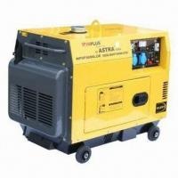 Buy cheap Diesel Generator with Maximum Output of 5kW/50Hz and 10HP/3600rpm, Silent Type product