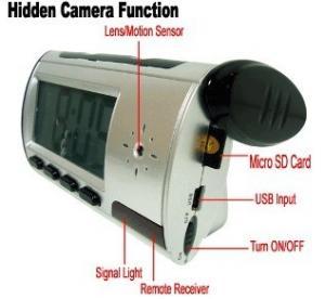 Buy cheap Home Security Mini Alarm Clock DVR Spy Hidden Surveillance Camera Audio Video Recorder product