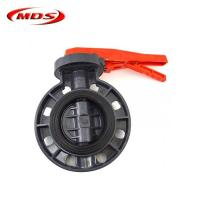 China 2 inch pvc plastic spring loaded butterfly ball valve on sale