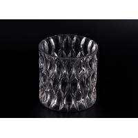 Buy cheap 36OZ Large Wax Luxury Glass Votive Candle Holders With Pattern product