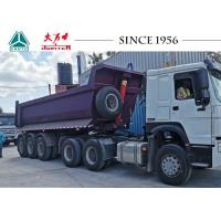 China 24CBM 30 Tons Tipper Semi Trailer Heavy Duty Dump Trailer With 3 Axle on sale