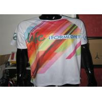 Buy cheap Polyester White Running Custom Printed T Shirts With Sublimation Printing product