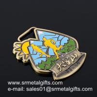 China Hollow-out shaped metal run medal with enamel, shaped metal medals wholesale