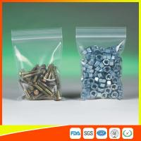 Buy cheap Clear Packing Ziplock Bags For Hardware Packaging , Plastic Bag With Zipper product