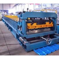 Buy cheap 7.5 Kw Gimbal Gearbox Drive Roof Rolling Forming Machine PLC Frequency Control System product