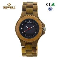 Buy cheap All Natural Green Sandalwood Solar Men Wooden Watches , Handcrafted Wooden Men Watches product