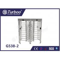 Buy cheap Full - Height Stainless Steel Turnstiles Pedestrian Access Control System product