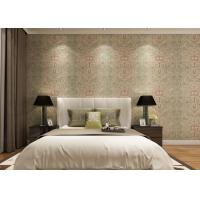 Buy cheap Rustic Embossed Washable Vinyl Wallpaper , Symmetrical Floral Pattern Wallpaper product
