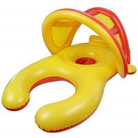 Buy cheap Mom And Baby Inflatable Swim Ring With Sun Shade Canopy / Bucket Seat PVC Baby Float product