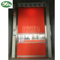 Automatic Cargo Air Shower Tunnel With Red PVC Rolling Up Fast Shutter Door