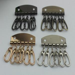 Buy cheap Leather Key Case Wallets Unisex Keychain zinc alloy Key Holder Ring with 6 Hooks Snap Closure product