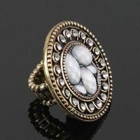 Buy cheap Fashionable Ring, Decorated with Cz Rhinestones, Customized Designs are Accepted product