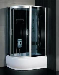 Buy cheap ABS Panel 4mm Glass Steam Shower Room With White Bezel Sliding Doors product
