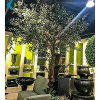 Buy cheap Customized Size Artificial Olive Tree Green Leaf For Mall Decoration product