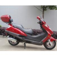 China Two Headlights Blue Adult Gas Scooter , 150cc Motor Scooter With 2 Seats Real Leather wholesale