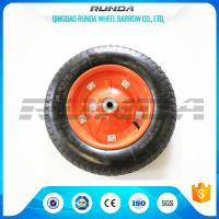 "Buy cheap Middle Size Heavy Duty Rubber Wheels 13""X3.25-8 Solid Steel Rim With Screws product"